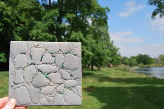 Irish stone wall embroidery