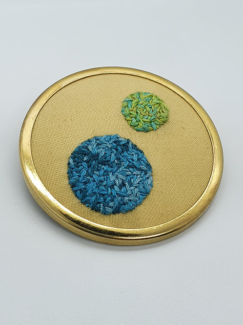 Double Circle Brooch