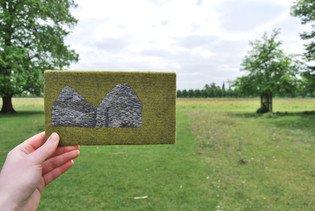 Irish Famine House landscape embroidery