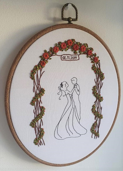 Bride and Groom wedding gift