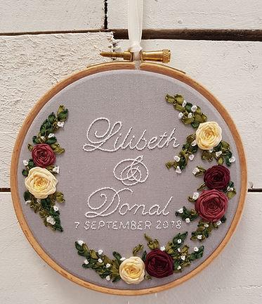 handmade anniversary gift embroidery