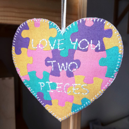 Love You Two Pieces christening gift