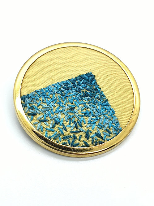 Blue Triangle Brooch