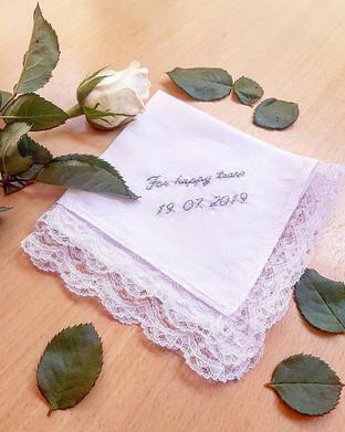 For Happy Tears wedding handkerchief gift