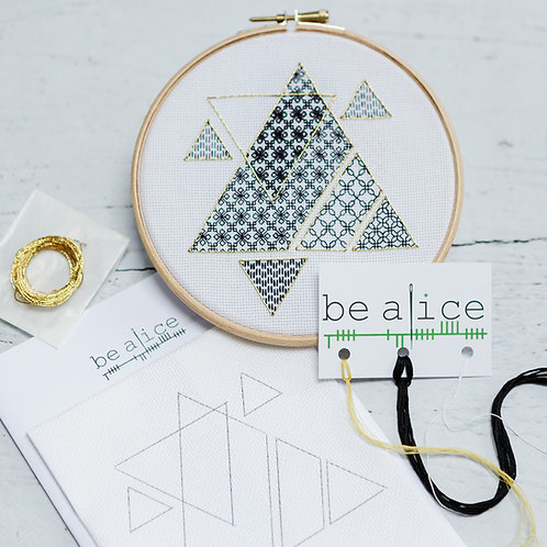 Blackwork Triangles Kit