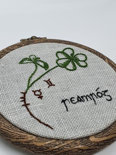 Shamrock embroidery