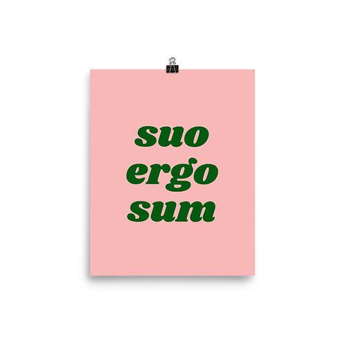Suo Ergo Sum Poster