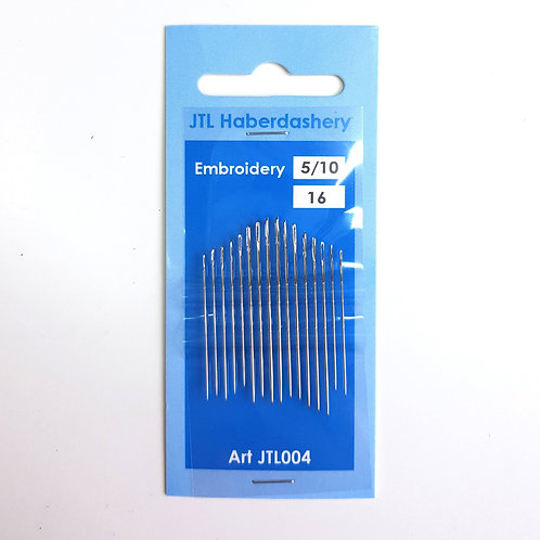 Embroidery Needles sizes 5-10