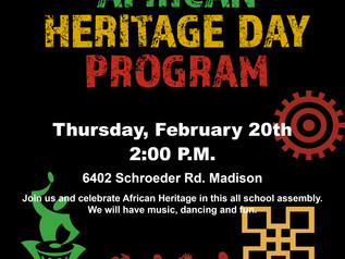 African Heritage Day Program