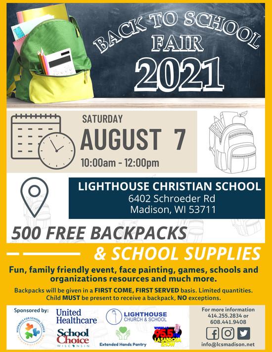 Back to School Fair 2021