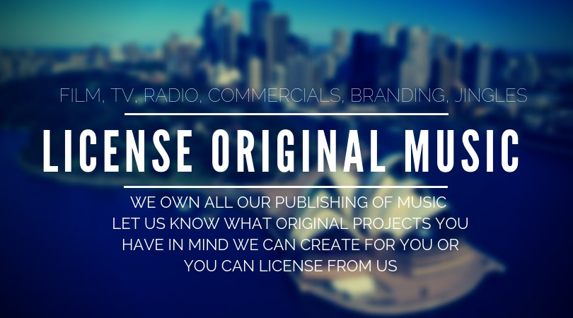 We have our own licensed works or we can also create original works for film, tv, radio, commercials, branding, jingles.