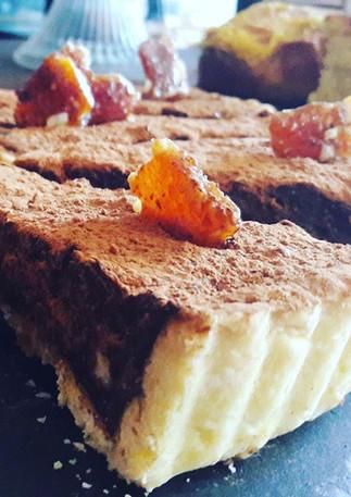 Chocolate hazelnut torte made on the pre