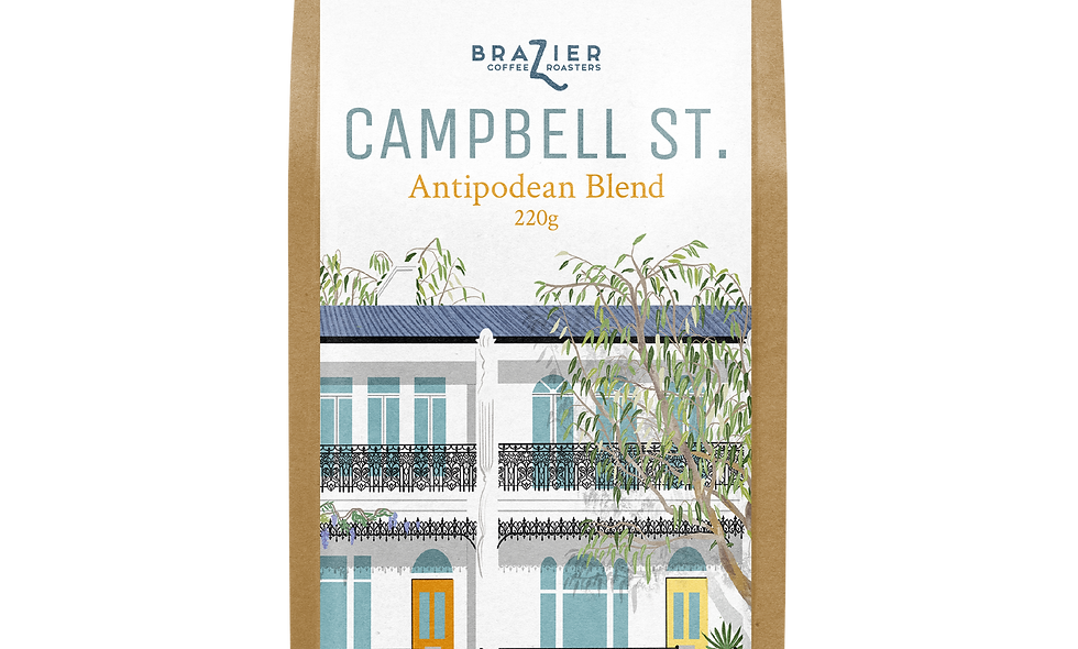 CAMPBELL ST, blended ground coffee, 220g