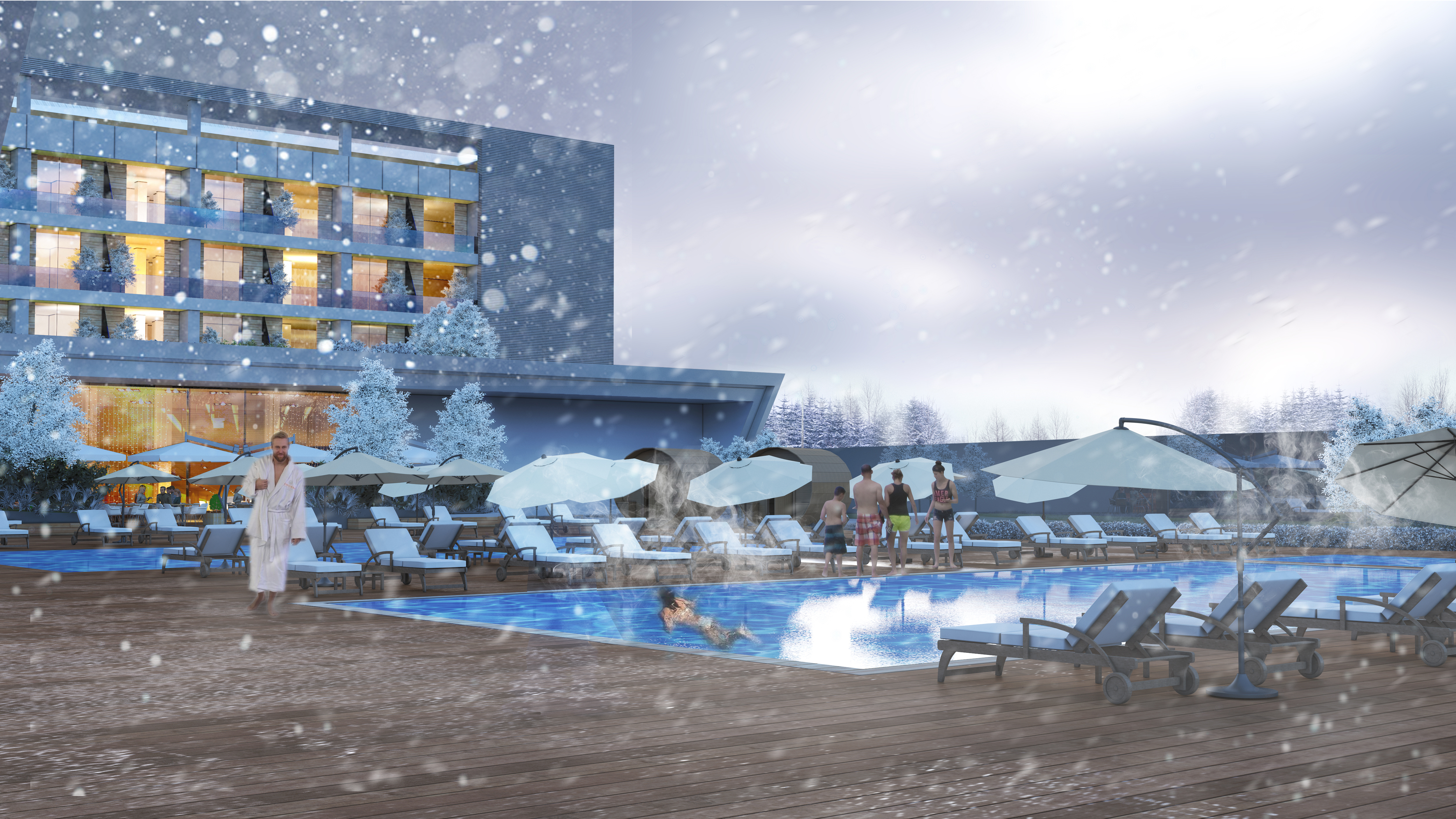 Thermal Pool Deck