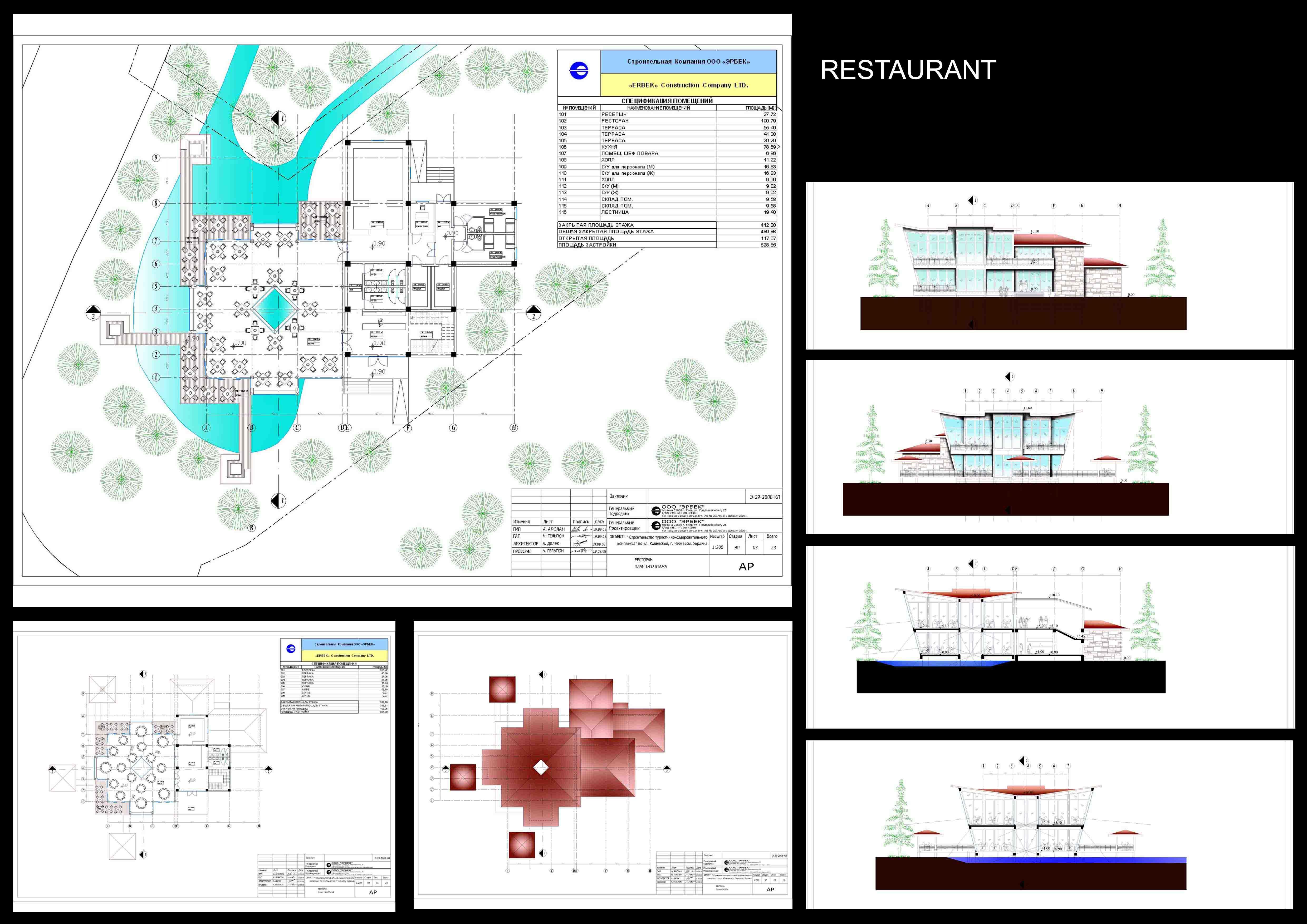 Restauran Building drawings