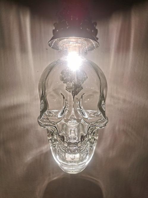 Pair of Large Skull Sconce Light