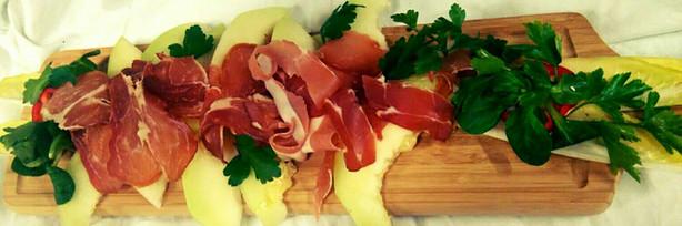Melone mit Schinken.JPG