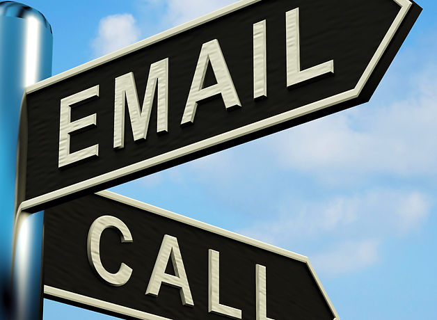 email-or-call-directions-on-a-signpost_f