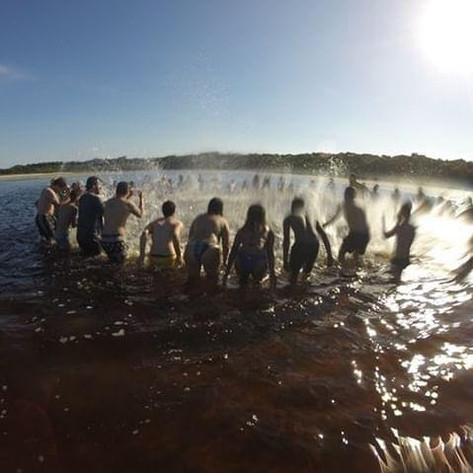 Focalizando uma prática nas águas com os