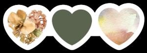 Nikki Phillippi - Sage Hearts Sticker
