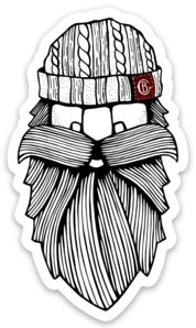 Beard Beanie Sticker