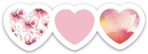Nikki Phillippi - Pink Hearts Sticker