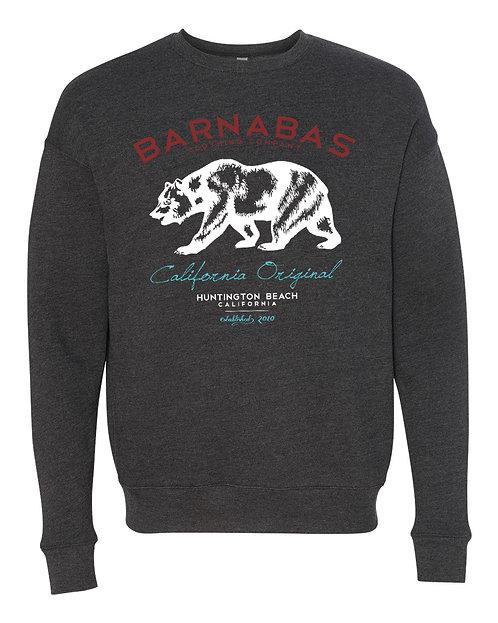 Cali Original Heather Charcoal Crew Sweatshirt