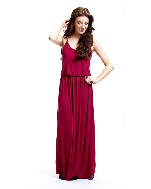 Maxi Dress - Crimson Red