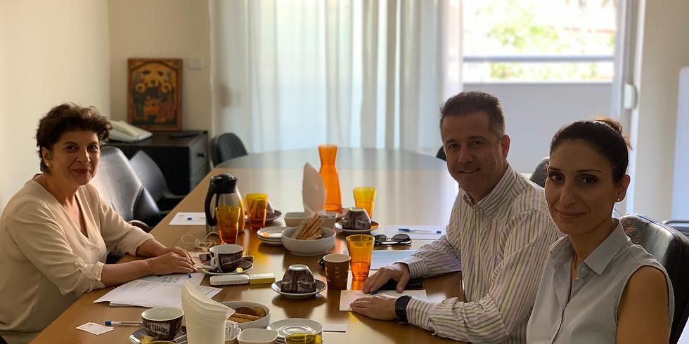 5.10.2019 Συνάντηση με το Προεδρείο της Ένωσης Ξενοδοχείων Χαλκιδικής για το θέμα της κατάρρευσης της Thomas Cook.