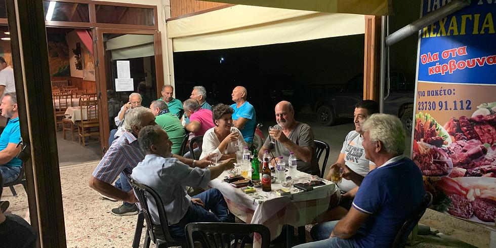 15.9.2019 Συνάντηση με παραγωγούς πράσινης ελιάς στην Όλυνθο.