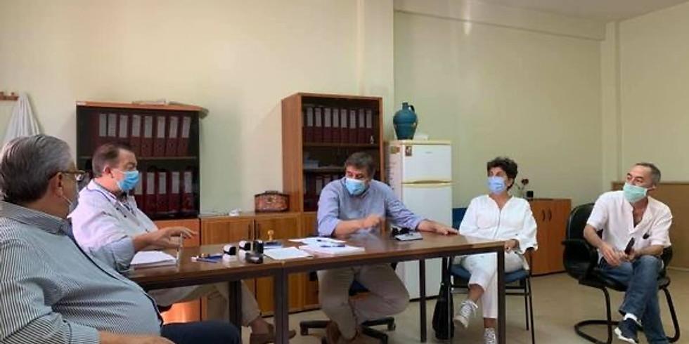 17.09.2020 Επίσκεψη με τον Ανδρέα Ξανθό σε δομές υγείας του Νομού