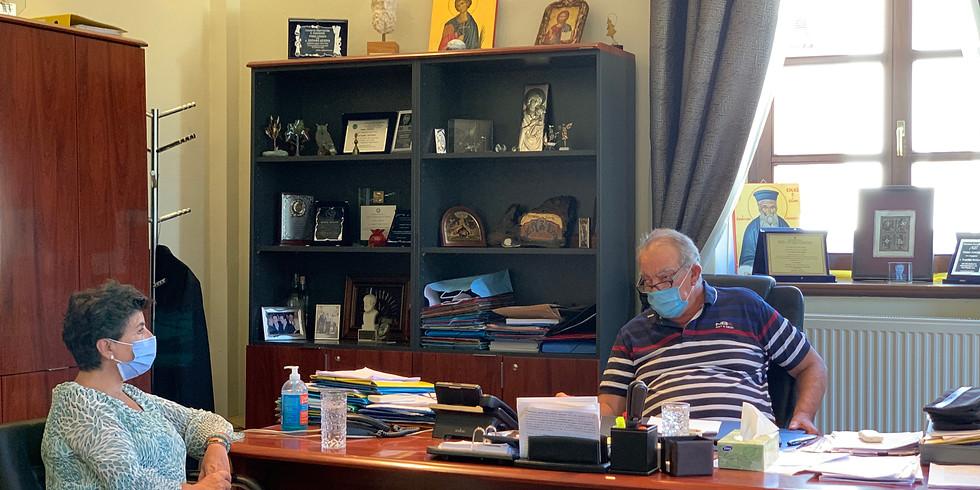 31.8.2020 Συνάντηση με τον Δήμαρχο Πολυγύρου