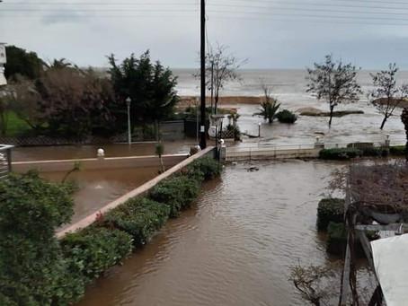 Τα επαναλαμβανόμενα πλημμυρικά φαινόμενα στη Σιθωνία επιβάλλουν δράσεις που εκκρεμούν επί χρόνια.