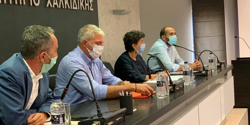 21.09.2020 Επίσκεψη στον Πολύγυρο με τον γραμματέα του ΣΥΡΙΖΑ-Προοδευτική Συμμαχία Δημήτρη Τζανακόπουλο