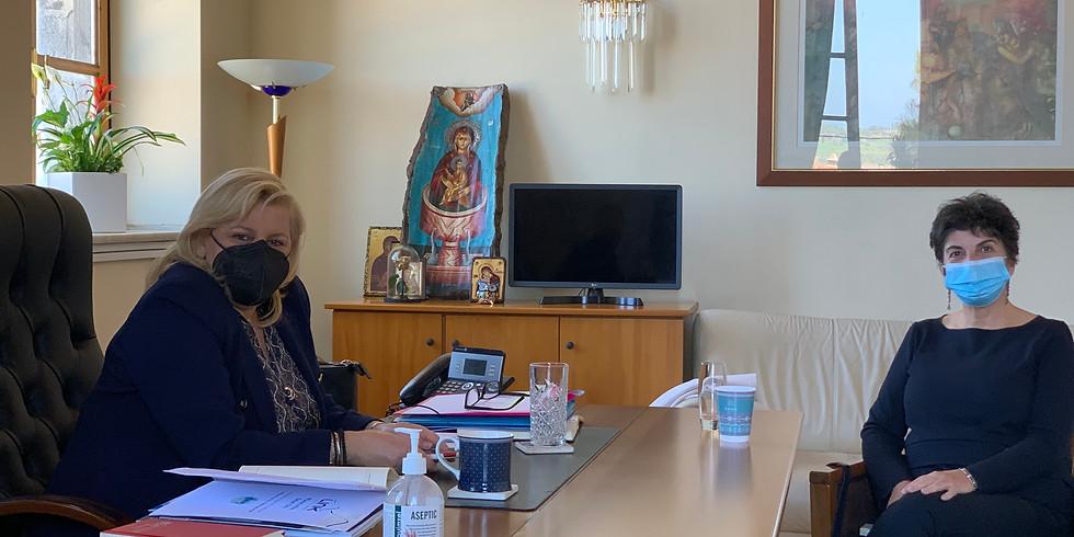 5.3.2021 Συνάντηση με τη Δήμαρχο Κασσάνδρας