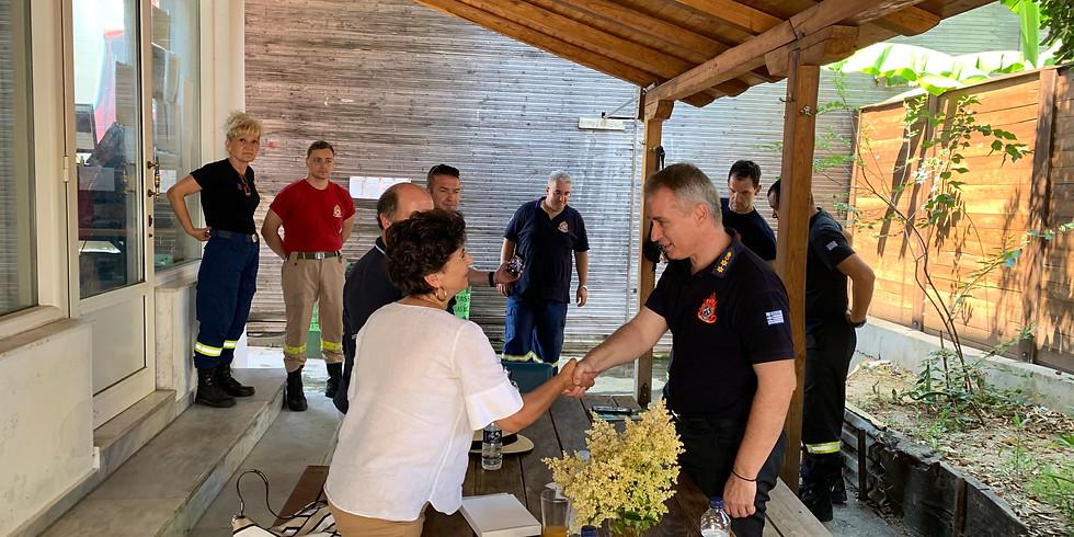4.7.2020 Επίσκεψη στην Πυροσβεστική Υπηρεσία Ιερισσού