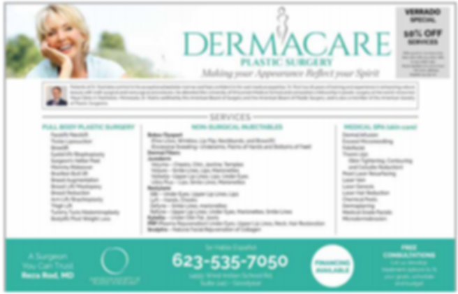 Dermacare Plastic Surgery_Advert Feb2020