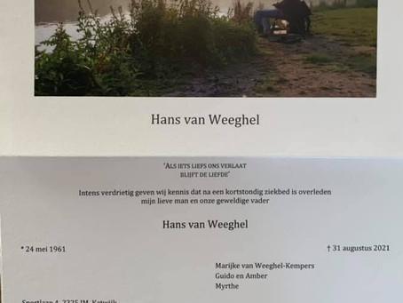 In Memoriam, Hans van Weeghel. (Paddleout)