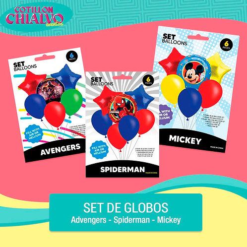 """Set globo """"Temáticos"""""""