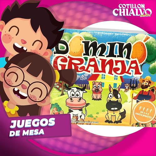 """Juegos de Mesa """"Domino granja"""""""