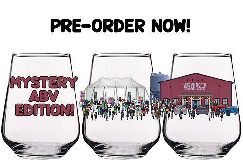 "450 North Life ""Mystery ABV Edition"" Parody Glass"