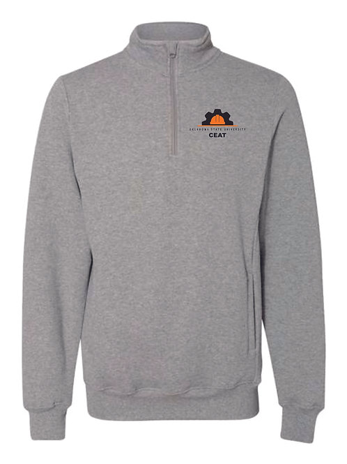 Grey Quarter Zip