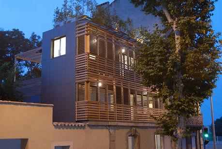 architecte maison individuelle montpellier hérault Bois contemporain
