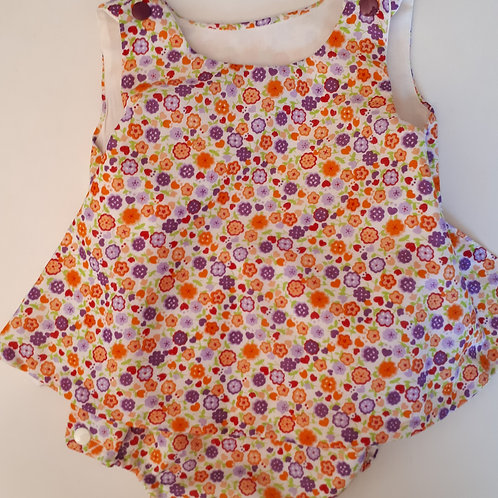 Barbot'dress en liberty orange/violet