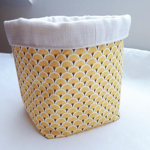 Panière  tissu japonais jaune