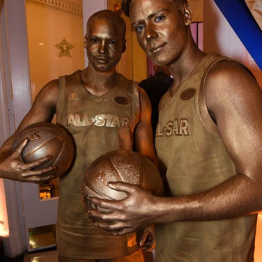 Gold Painted Basketball Models