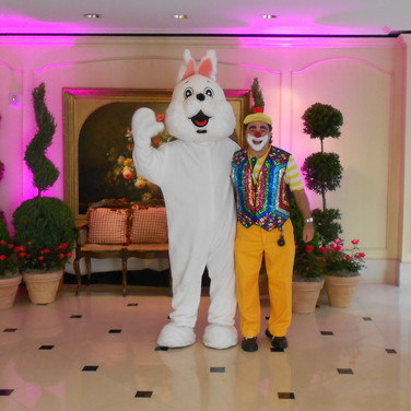 Easter Bunny and Clown