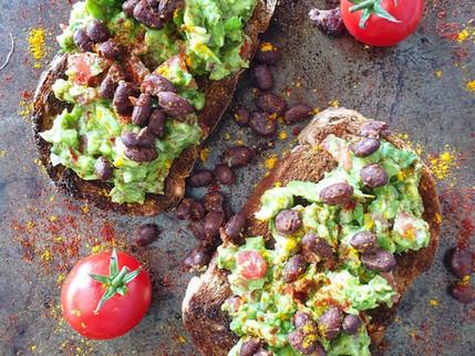 RECIPE - Guacamole on Toast with Smoky Black Beans