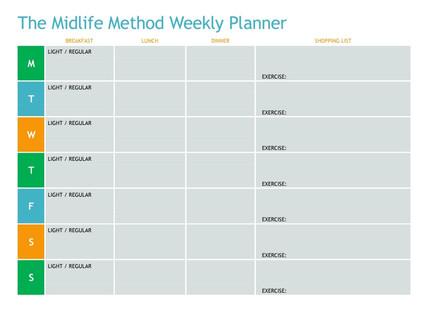The Midlife Method Weekly Planner