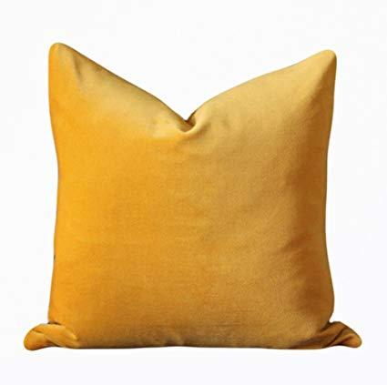 Mustard Velvet Pillow (2)